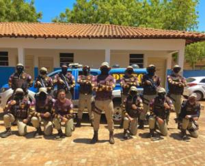 Equipe do PETO durante instrução na sede da 46ª CIPM.Foto: Reprodução.